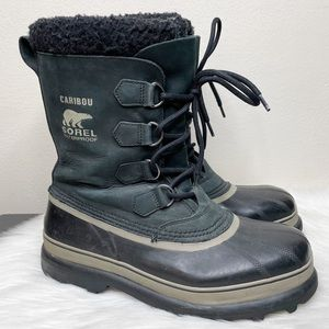 Sorel Mens Caribou Waterproof Winter Boots Black